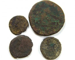 PARCEL 4 MIXED ANCIENT ROMAN COINS  AC 614