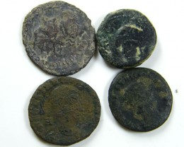 PARCEL4  MIXED ANCIENT ROMAN COINS  AC 615