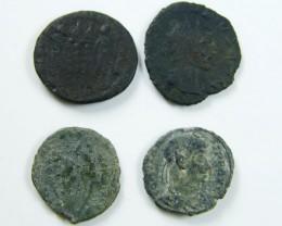 PARCEL 4 MIXED ANCIENT ROMAN COINS  AC 618