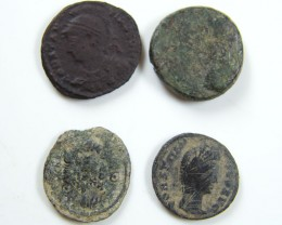PARCEL 4 MIXED ANCIENT ROMAN COINS  AC 619