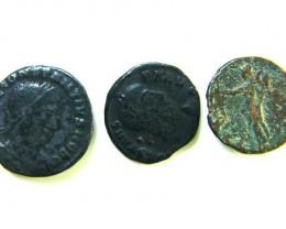 THREE PROVINCIAL ROMAN COINS         OP 665