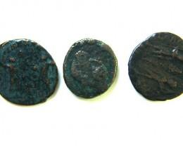 THREE PROVINCIAL ROMAN COINS         OP 666