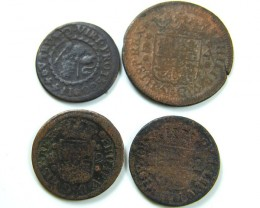 Parcel Spanish coins 17- 18th century  Philip II, AC 633