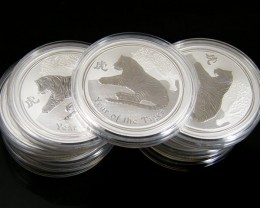 PARCEL 9 YEAR OF THE TIGER ONE OUNCE SILVER COINS CO 696
