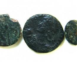 THREE PROVINCIAL ROMAN COINS         OP 670