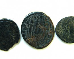 THREE PROVINCIAL ROMAN COINS         OP 674