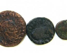 THREE PROVINCIAL ROMAN COINS         OP 676