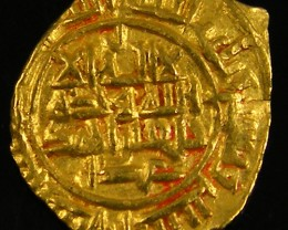ANCIENT ARAB  GOLD FRACTIONAL DINAR 981-1003 AD. APC2