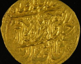 ANCIENT PERSIAN GOLD QUARTER ASHRAFI COIN 1116-1193 AH APC6