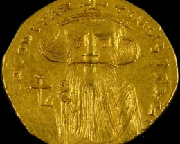 ANCIENT PERSIAN GOLD SOLIDUS COIN 641-668 AD. APC12