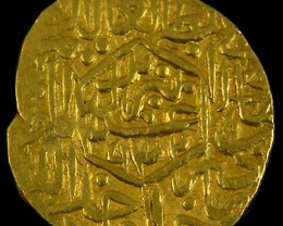 ANCIENT PERSIAN GOLD 1/2 MESQUAL COIN 930-984 AH. APC14