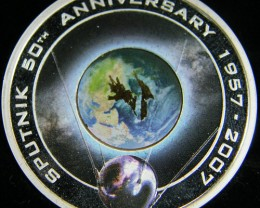 50th Anniversary of Sputnik 1957 – 2007 Silver Proof Orbital