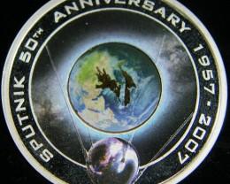 50th Anniversary of Sputnik 1957 – 2007 Silver Proof Orbital