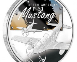North American P-51 Mustang 1oz Silver Proof Coin