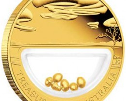 TREASURES OF AUSTRALIA GOLD AND GOLD NUGGET COIN SERIES