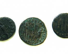 THREE PROVINCIAL ROMAN COINS         OP 687