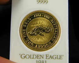 1/4 OUNCE GOLD NUGGET COIN THE EAGLE  CO 706