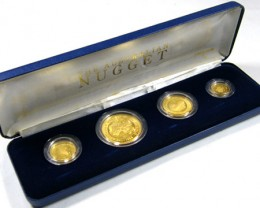 1986THE AUSTRALIAN NUGGET GOLD PROOF SET  CO 711