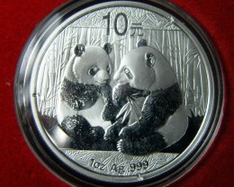 COLLECTION;2009 PANDA SILVER COIN ONE OZ