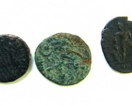 THREE PROVINCIAL ROMAN COINS         OP 691