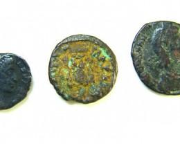 THREE PROVINCIAL ROMAN COINS         OP 692