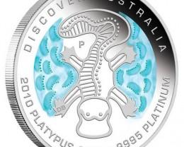 Discover Australia 2010 Dreaming – Platypus 1/10 oz Platinum