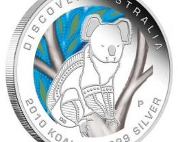 Discover Australia 2010 Dreaming – Koala 1oz Silver Coin