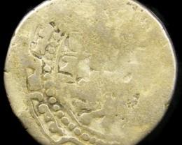 MEDIEVAL ISLAMIS SILVER  DIRHAM  13-14TH CEN COIN J 758