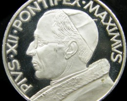 SILVER PROOF MEDAL PIUS X11 PONTFEX MAXIMUS SS VATICAN CO733