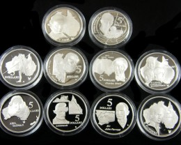 PROOF SILVER $5.00 EXPORERS SETS 1993 N 1994  CO 757