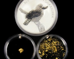 AUST TREASURE 2010 SILVER COIN GOLD NUGGET SERIES ATGS 6/200