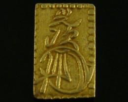 MEIJI DYNASTY NIBUKIN  GOLD COIN 1868-1869     JCC 70