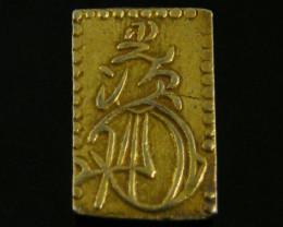 MEIJI DYNASTY NIBUKIN  GOLD COIN 1868-1869     JCC 71