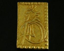 MEIJI DYNASTY NIBUKIN  GOLD COIN 1868-1869     JCC 73
