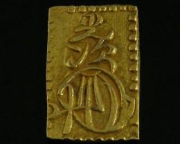 MEIJI DYNASTY NIBUKIN  GOLD COIN 1868-1869     JCC 75