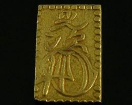 MEIJI DYNASTY NIBUKIN  GOLD COIN 1868-1869     JCC 78