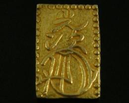 MEIJI DYNASTY NIBUKIN  GOLD COIN 1868-1869     JCC 80