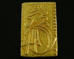 MEIJI DYNASTY NIBUKIN  GOLD COIN 1868-1869     JCC 82