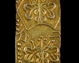 F MEIJI DYNASTY NIBUKIN  GOLD COIN 1868-1869     JCC 83