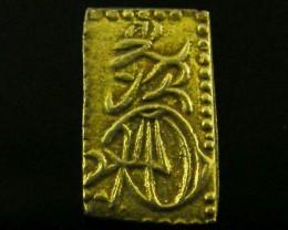 MEIJI DYNASTY MANEN NISHUBAN GOLD COIN  1860  JCC 95