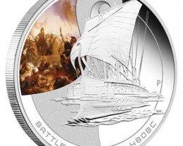 1oz Silver Proof Coin Series The Battle of Salamis 480BC