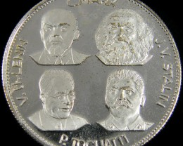 SILVER PROOF MEDAL   RUSSIA STALIN ,LENIN ,MARX ,TOG CO 758