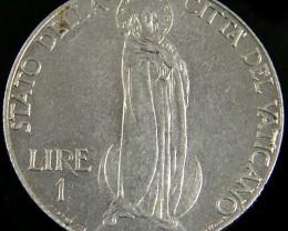 VATICAN 1941 1 LIRE PIVS.X11.PONTIFF  CO 770