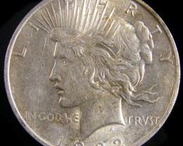 1922  PEACE DOLLAR SILVER COIN   CO 807