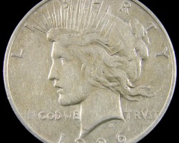 1926   PEACE DOLLAR SILVER COIN   CO 813