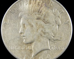 1924   PEACE DOLLAR SILVER COIN   CO 816