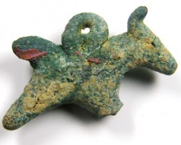 ANCIENT ROMAN ARTIFACT BRONZE HORSE PENDANT AC 648