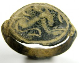 ANCIENT ROMAN ARTIFACT BRONZE MENS RING AC 651