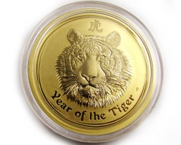 Lunar 2010 Year of the Tiger 1 ounce Gold Proof Coin
