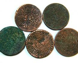 TIBET AE SHO 1920s  PARCEL 5 COINS          OP 783